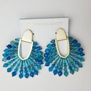 Kendra Scott Diane Beaded Teal Agate Earrings